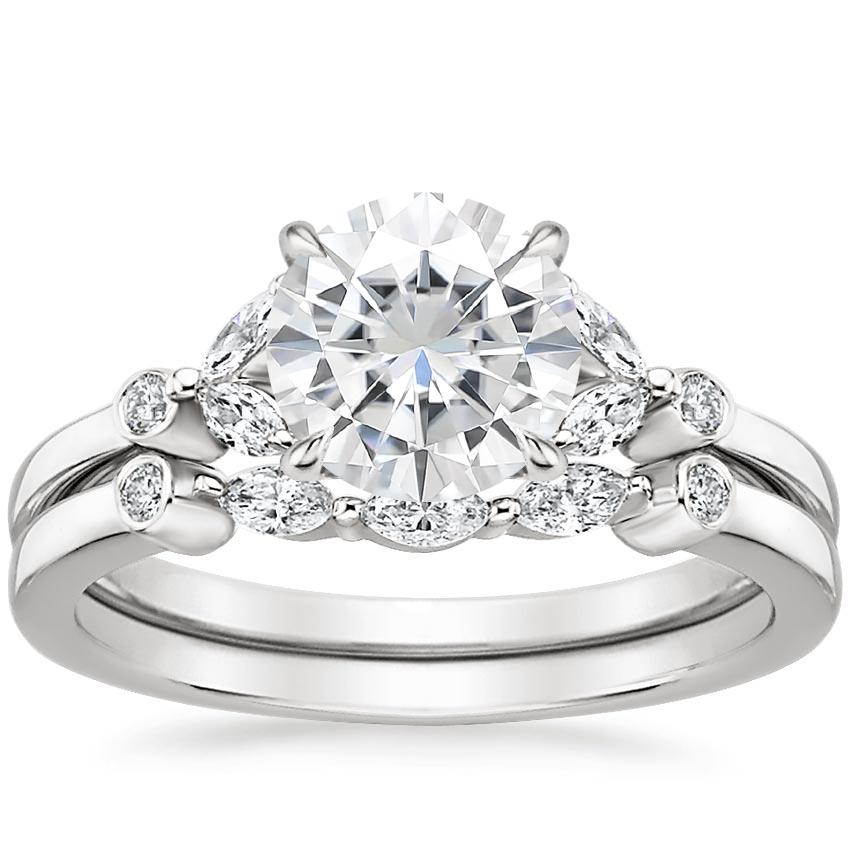 PT Moissanite Verbena Diamond Bridal Set (1/4 ct. tw.), top view