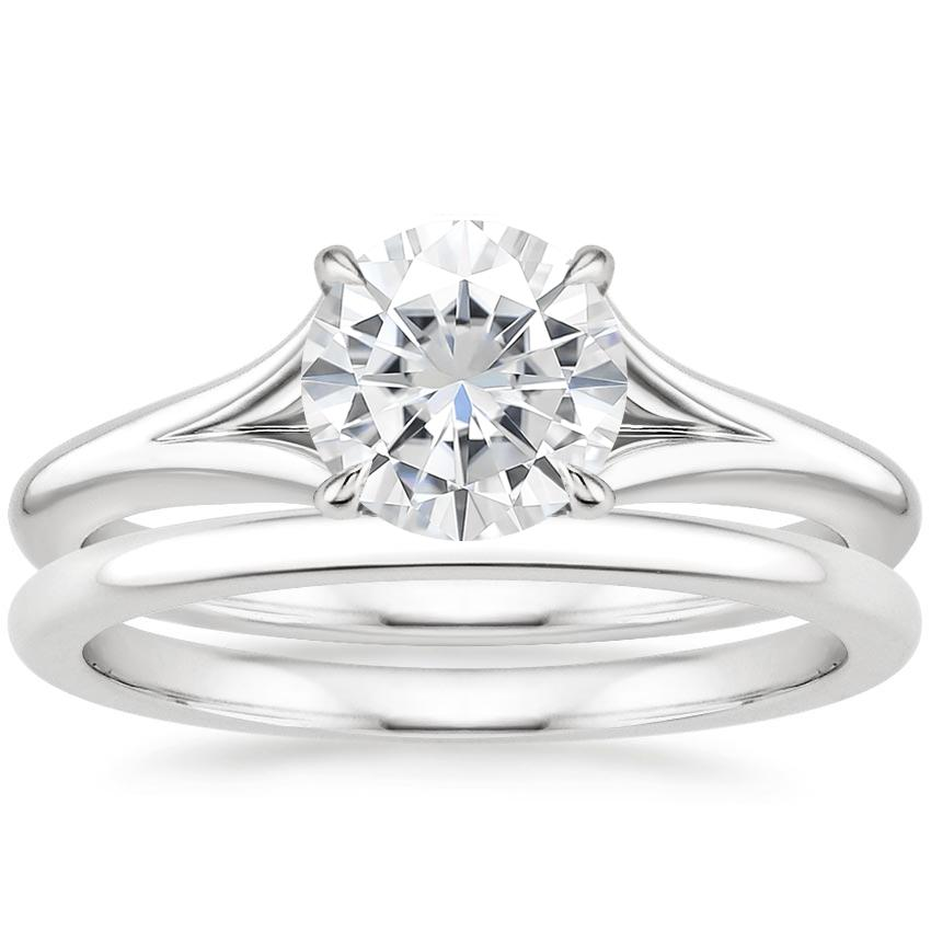 18KW Moissanite Reverie Bridal Set, top view