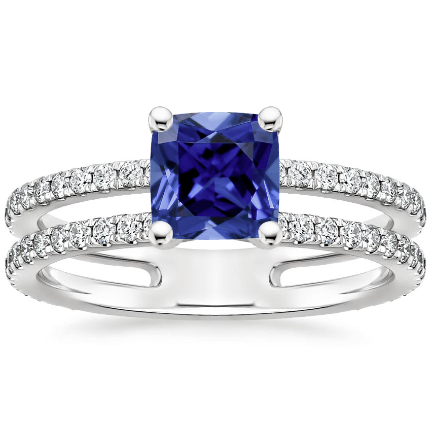 Sapphire Linnia Diamond Ring (1/2 ct. tw.) in 18K White Gold