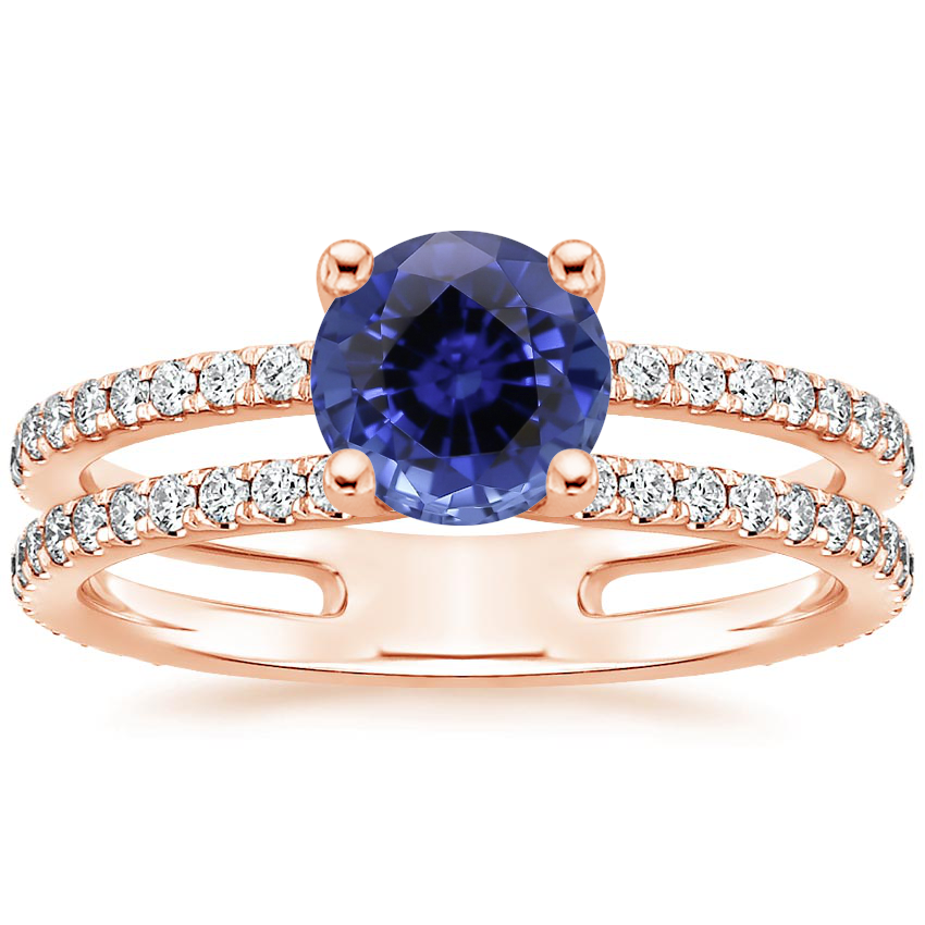 Rose Gold Sapphire Linnia Diamond Ring (1/2 ct. tw.)