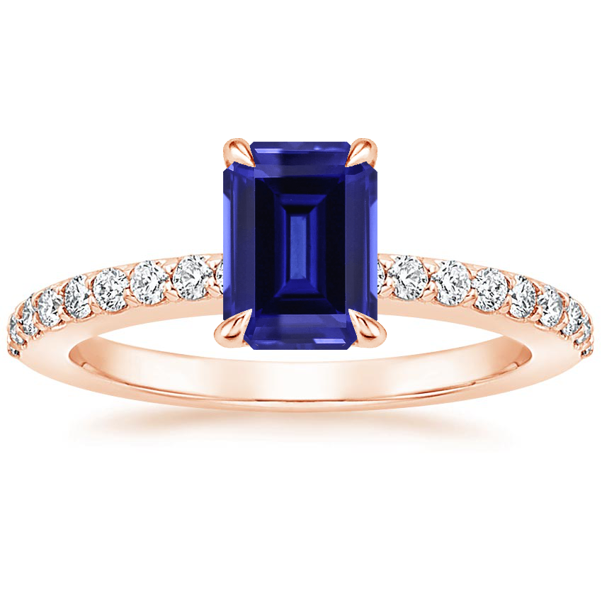 Rose Gold Sapphire Luxe Elodie Diamond Ring (1/4 ct. tw.)