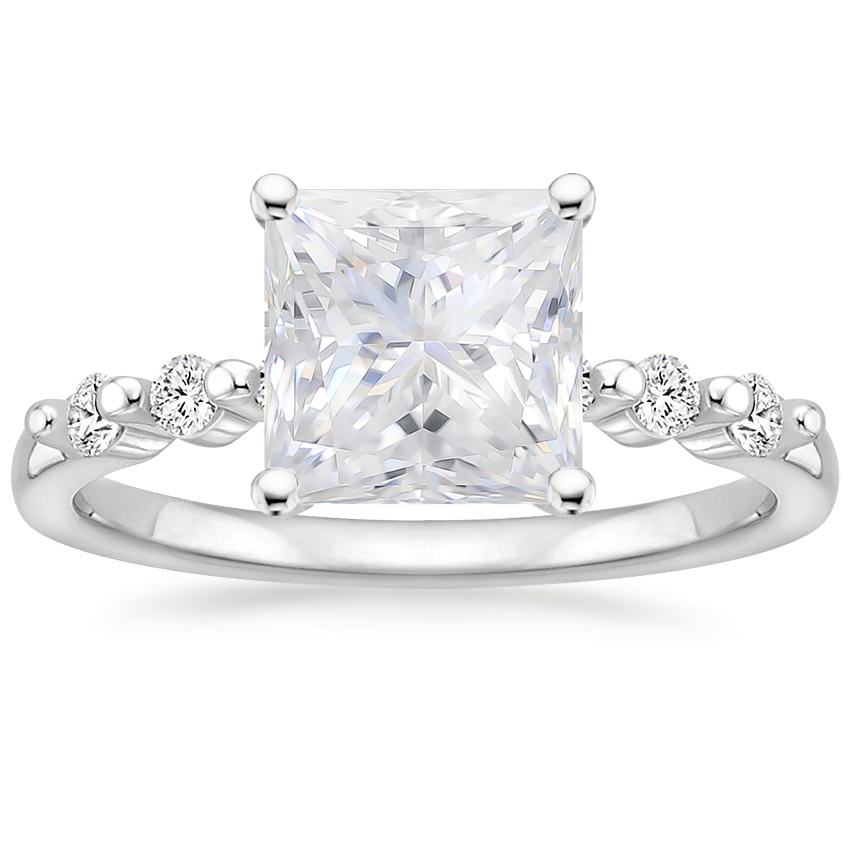 Moissanite Petite Marseille Diamond Ring (1/6 ct. tw.) in Platinum