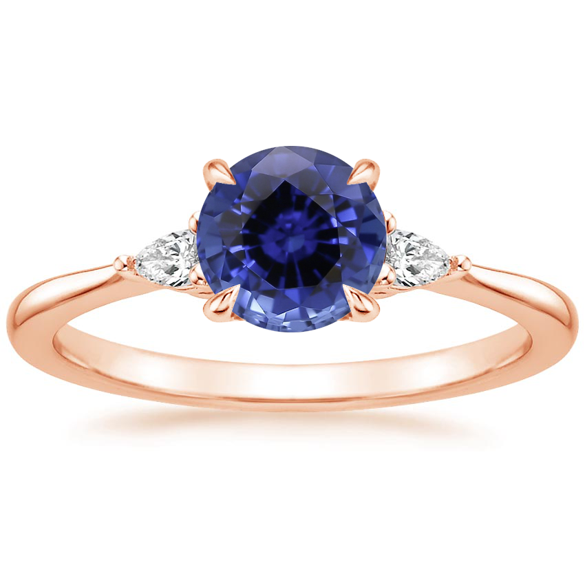Rose Gold Sapphire Aria Diamond Ring (1/10 ct. tw.)