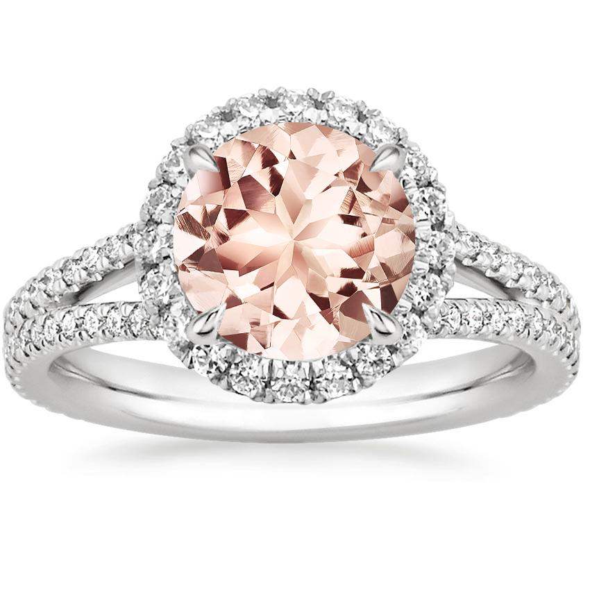 Morganite Fortuna Diamond Ring (1/2 ct. tw.) in Platinum