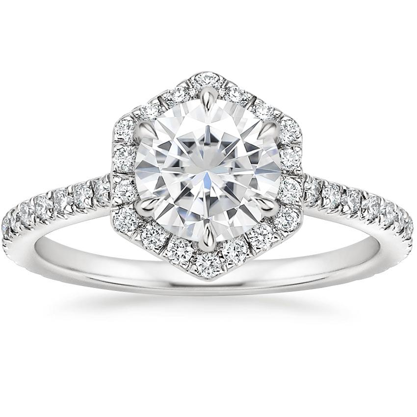 Moissanite Sonnet Diamond Ring (1/3 ct. tw.) in Platinum