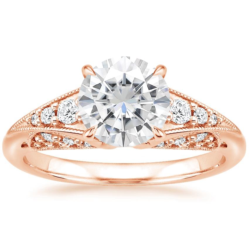 Rose Gold Moissanite Serafina Diamond Ring (1/4 ct. tw.)