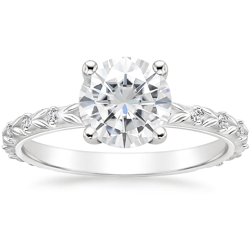Moissanite Hollie Diamond Ring in 18K White Gold