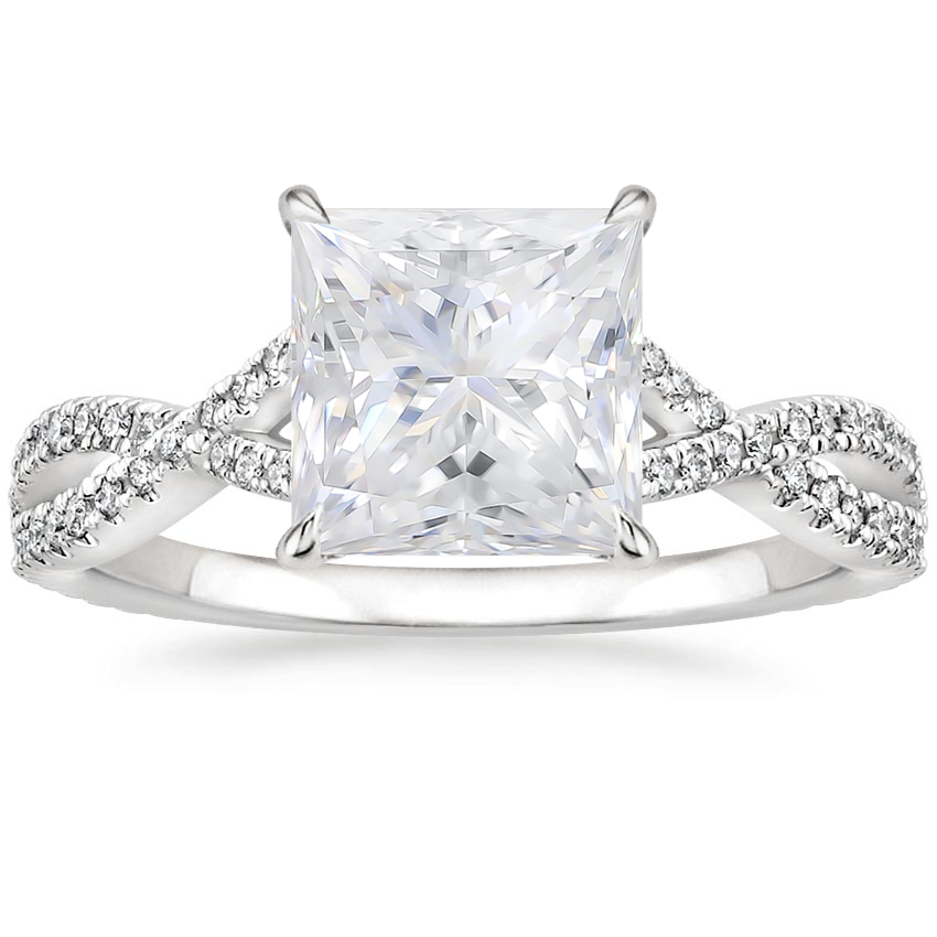 Moissanite Chloe Diamond Ring (1/4 ct. tw.) in 18K White Gold