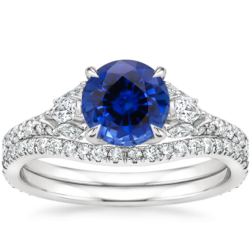 PT Sapphire Ava Diamond Bridal Set (3/4 ct. tw.), top view