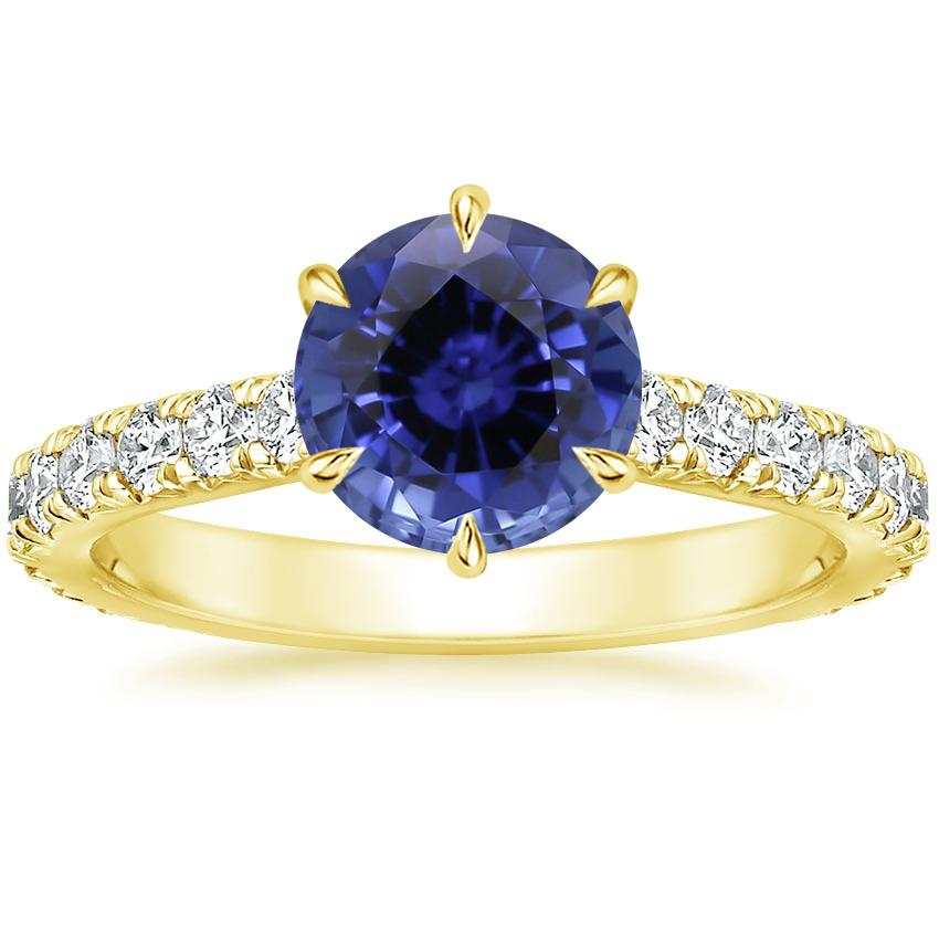 Yellow Gold Sapphire Luxe Sienna Diamond Ring (1/2 ct. tw.)