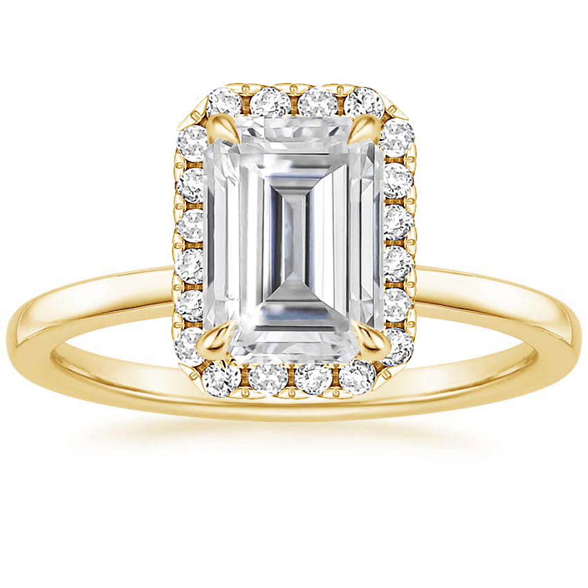 Yellow Gold Moissanite Vienna Diamond Ring