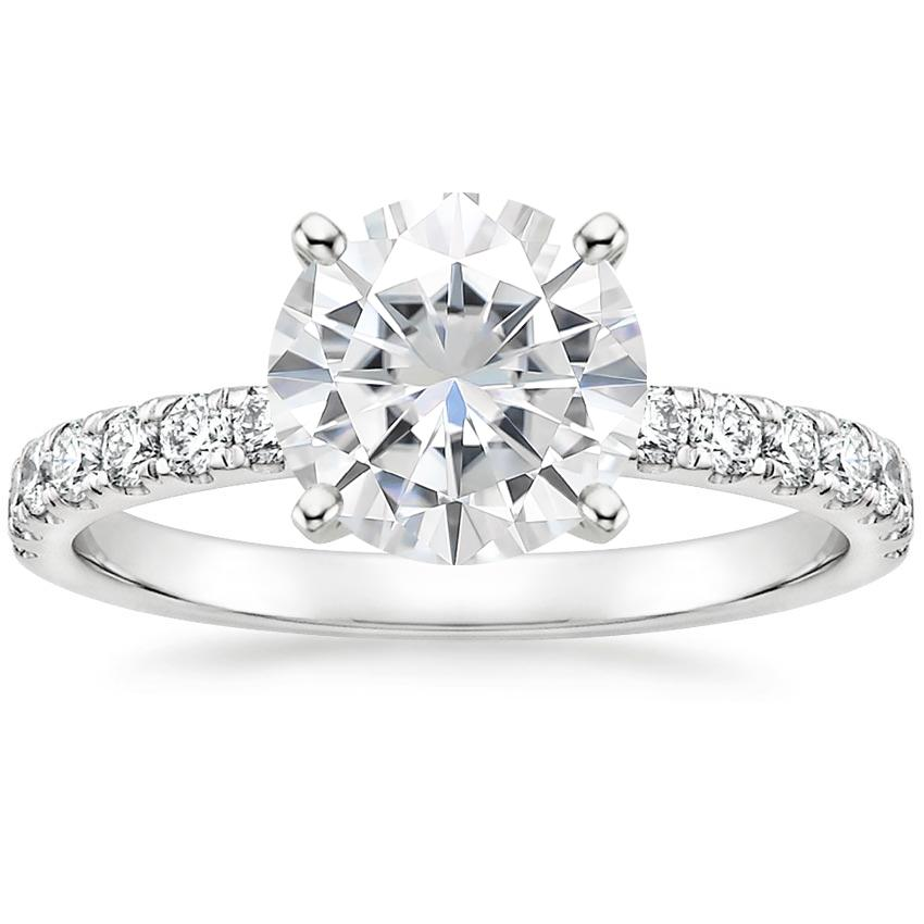 Moissanite Constance Diamond Ring (1/3 ct. tw.) in 18K White Gold
