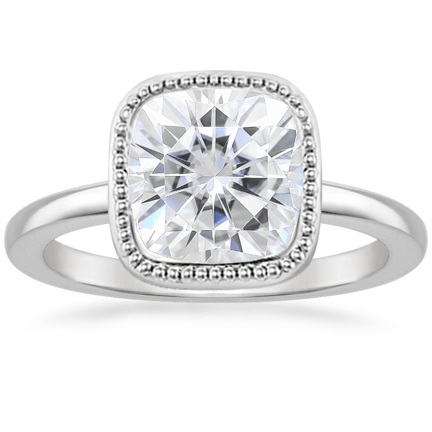 Moissanite Sierra Ring in 18K White Gold