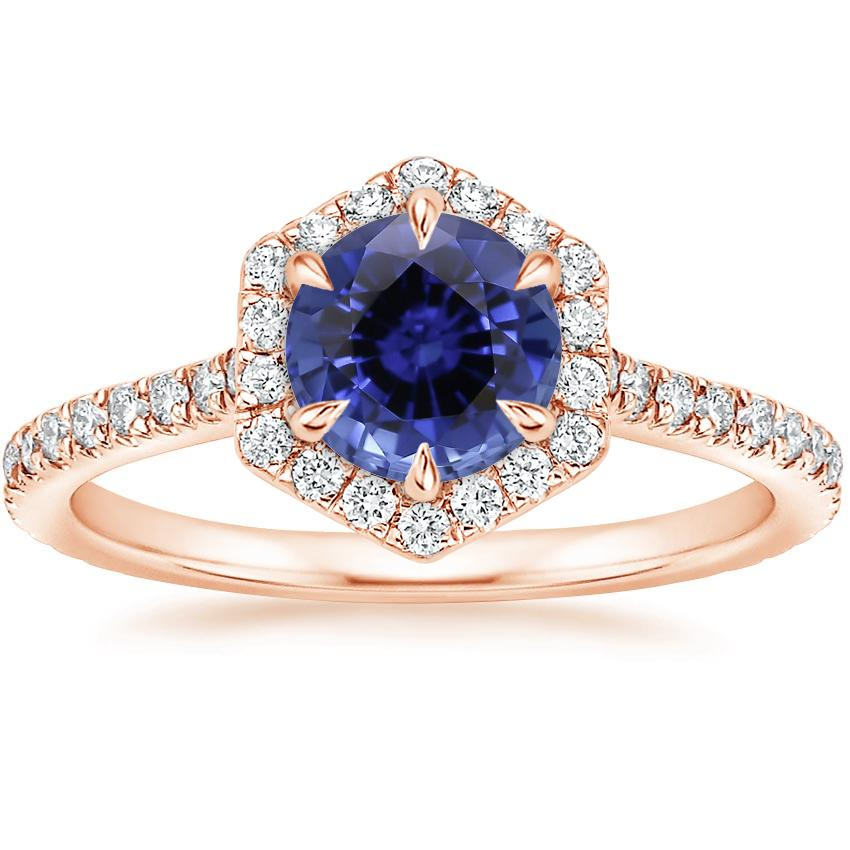 Rose Gold Sapphire Sonnet Diamond Ring (1/3 ct. tw.)