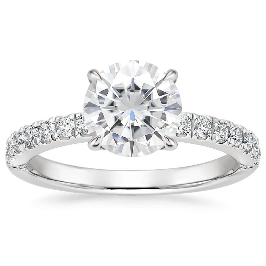 Moissanite Luxe Heritage Diamond Ring (1/3 ct. tw.) in 18K White Gold