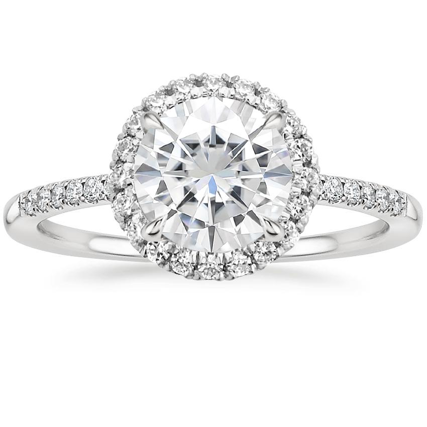Moissanite Cambria Diamond Ring in 18K White Gold