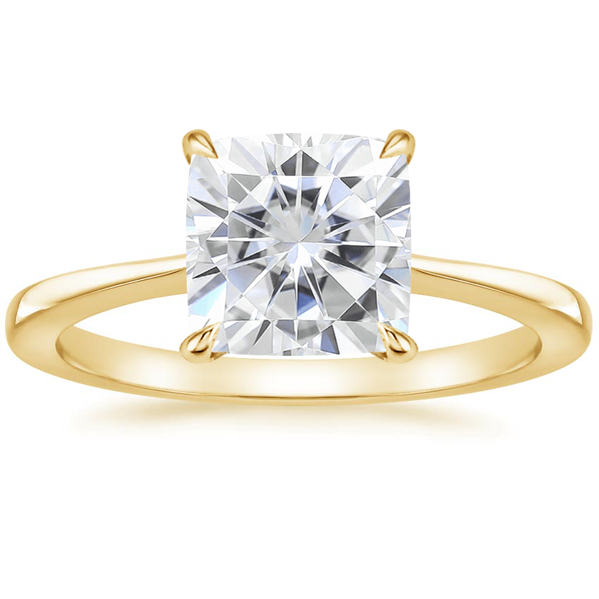Yellow Gold Moissanite Elle Ring