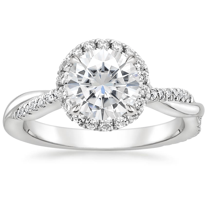 Moissanite Monroe Diamond Ring (1/4 ct. tw.) in 18K White Gold
