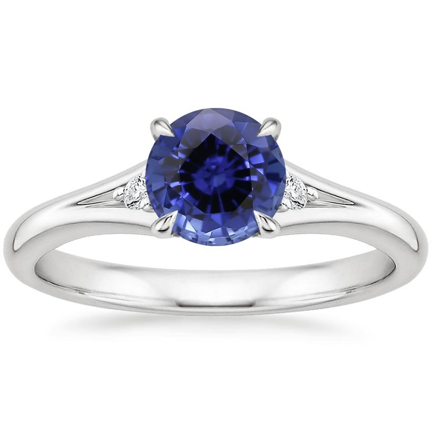 Sapphire Lena Diamond Ring in 18K White Gold