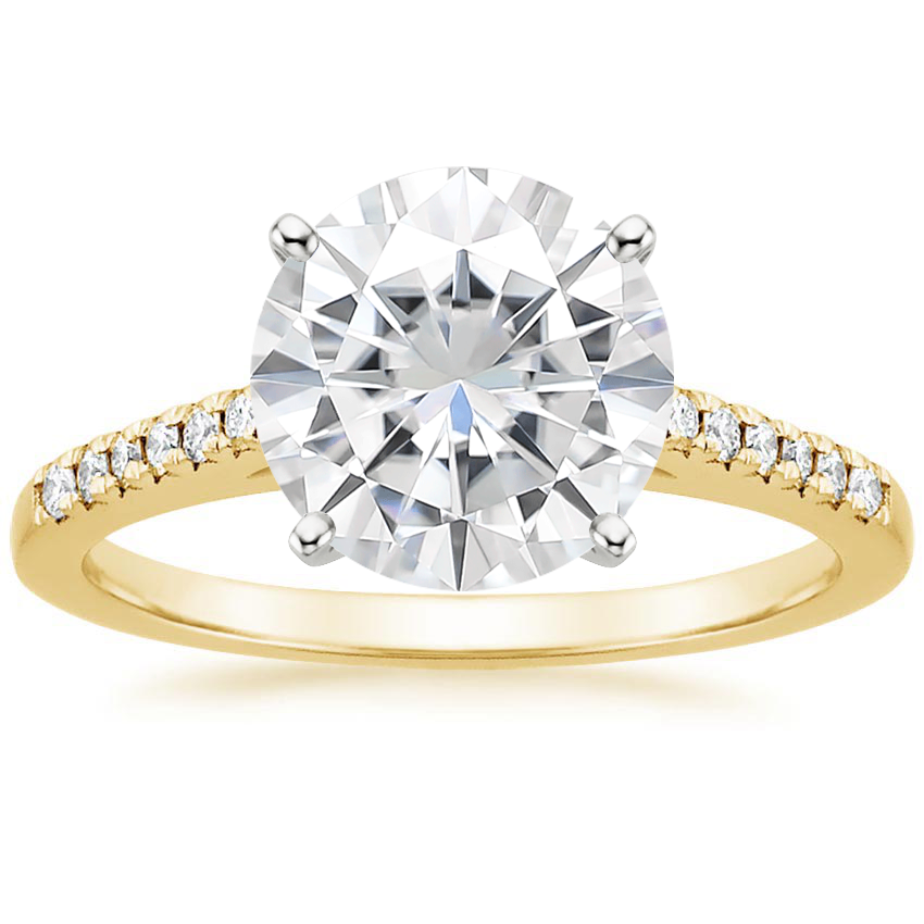Yellow Gold Moissanite Sonora Diamond Ring