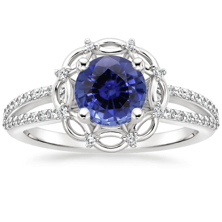 Sapphire Isabella Diamond Ring in Platinum