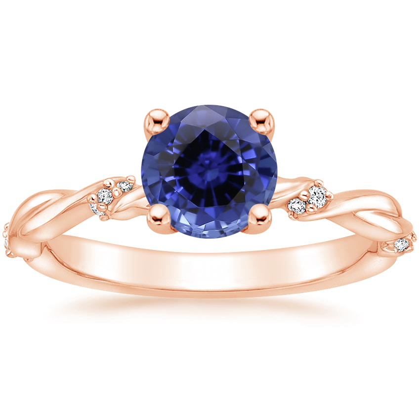 Rose Gold Sapphire Cleo Diamond Ring
