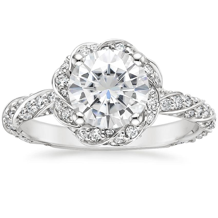 Moissanite Cordoba Diamond Ring (1/2 ct. tw.) in 18K White Gold