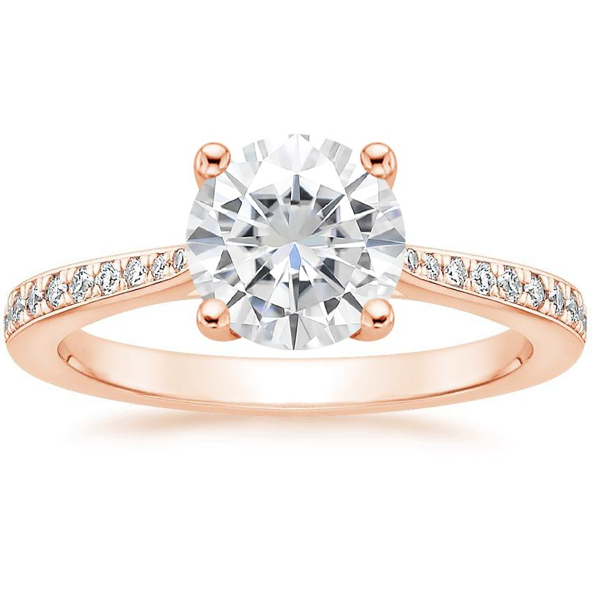 Rose Gold Moissanite Geneva Diamond Ring