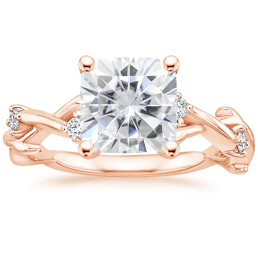 Rose Gold Moissanite Liana Diamond Ring