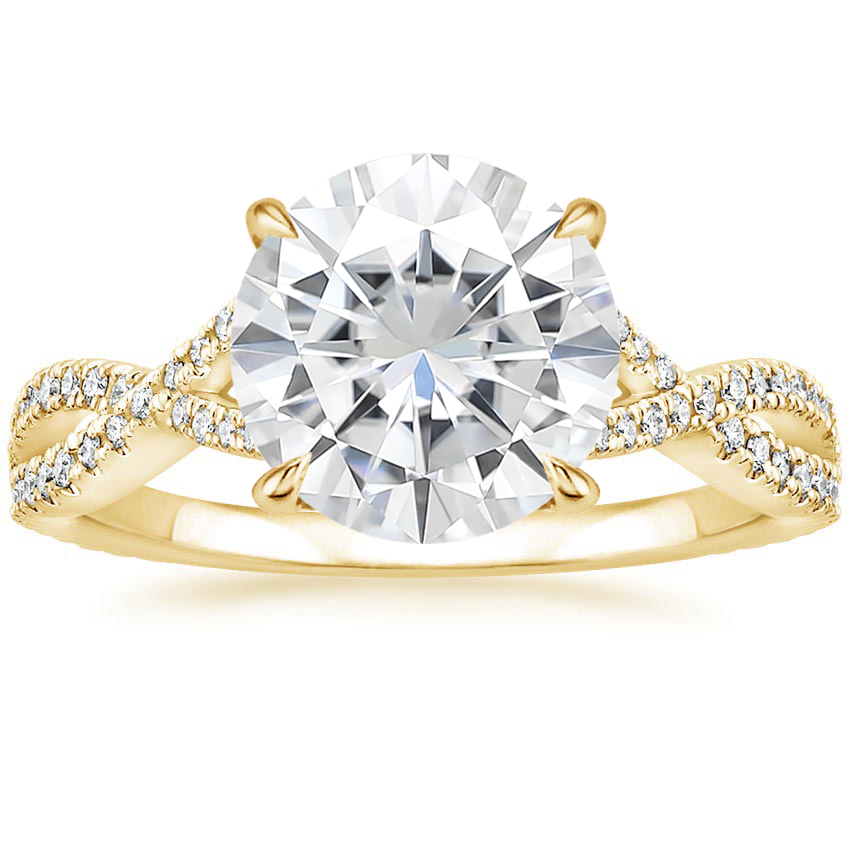 Yellow Gold Moissanite Chloe Diamond Ring (1/4 ct. tw.)
