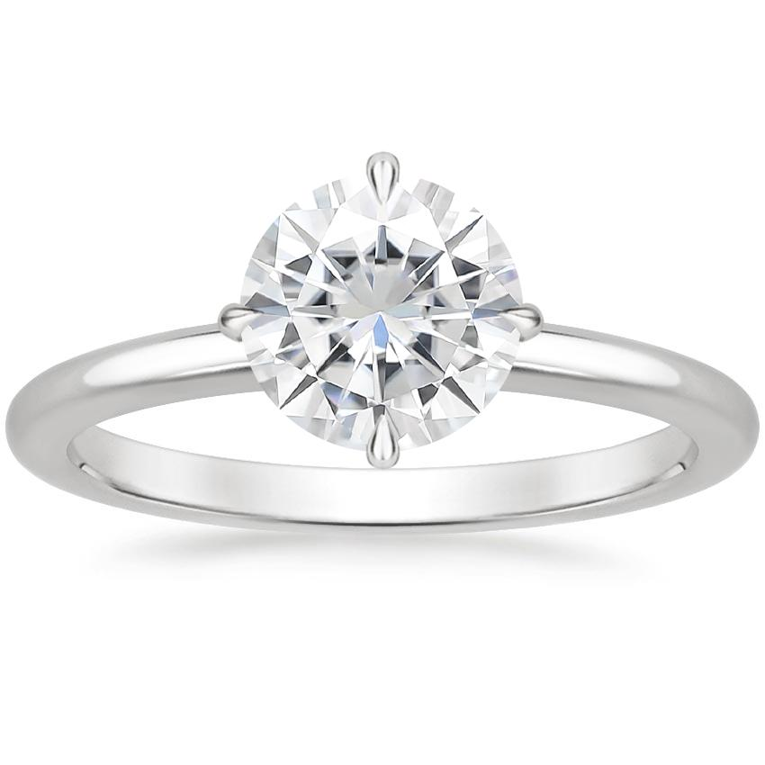 Moissanite North Star Ring in Platinum