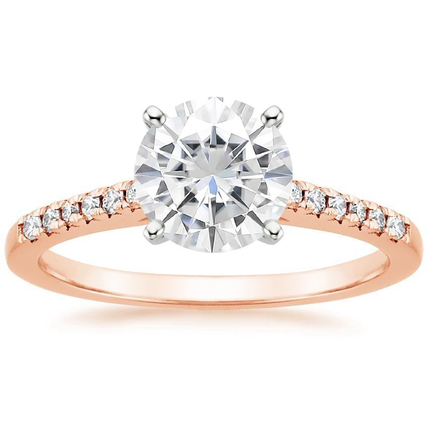 Rose Gold Moissanite Sonora Diamond Ring