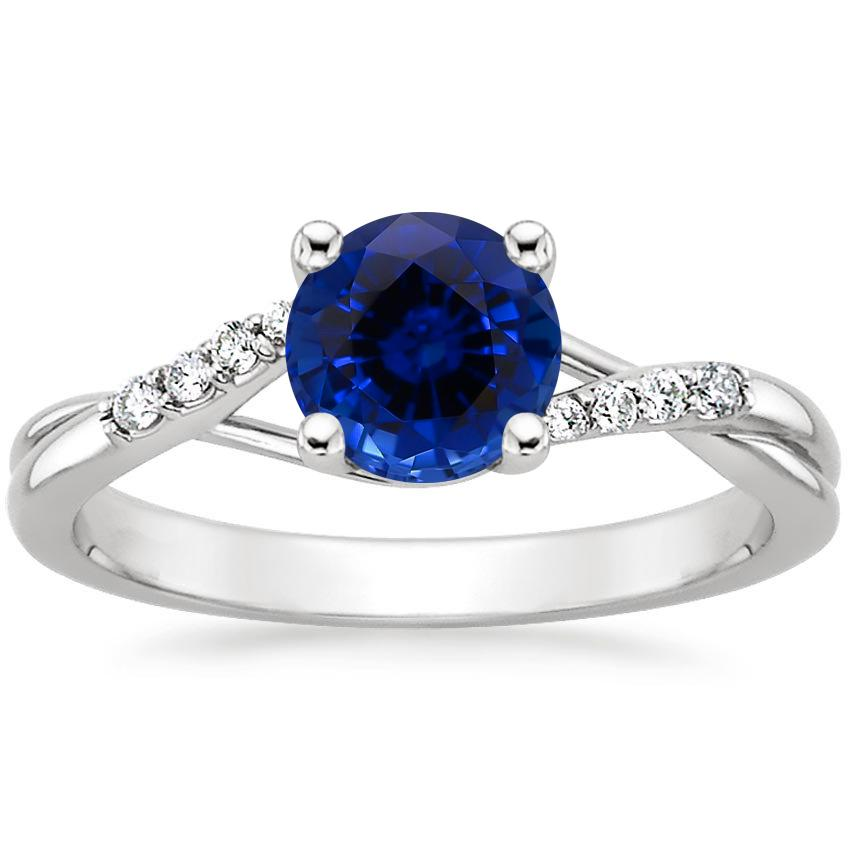 Sapphire Chamise Diamond Ring (1/15 ct. tw.) in 18K White Gold