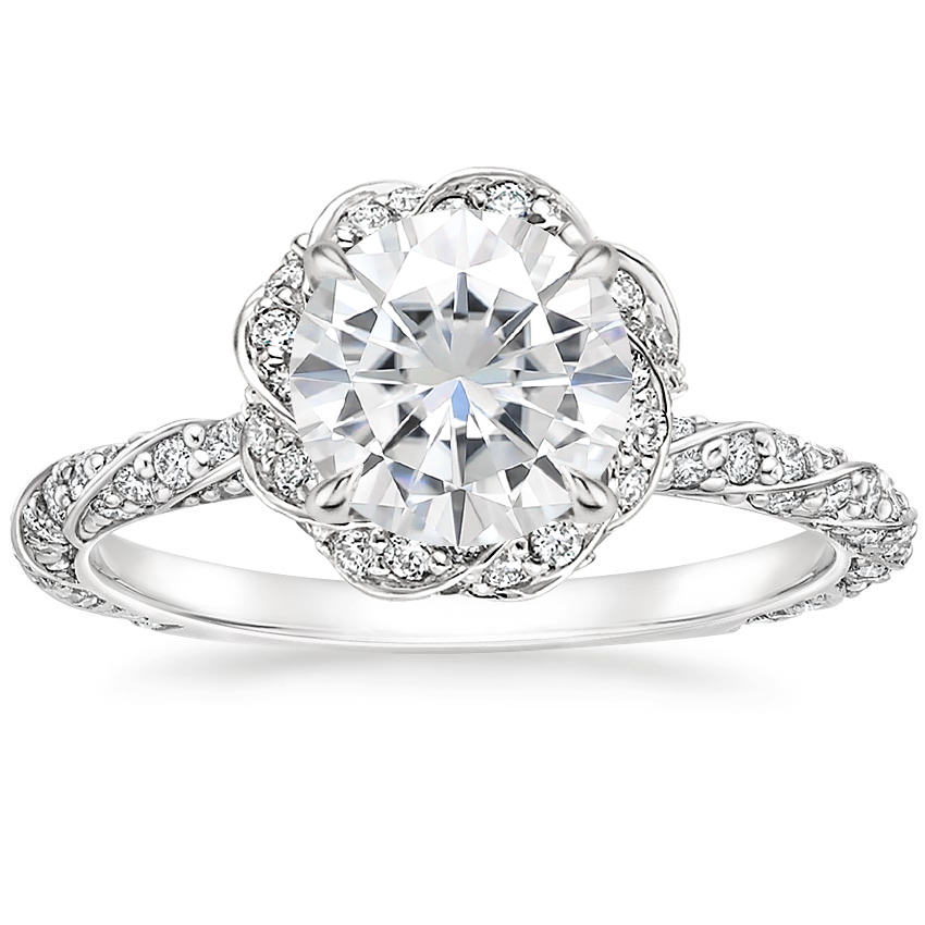 Moissanite Nova Diamond Ring (1/2 ct. tw.) in 18K White Gold