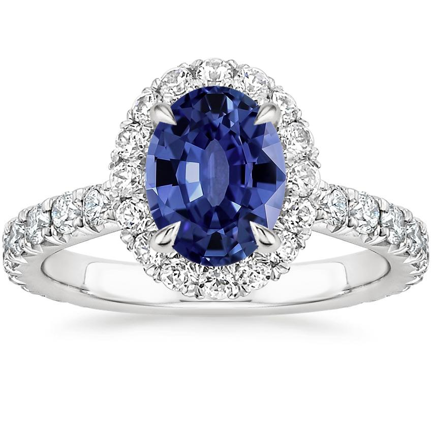Sapphire Estelle Diamond Ring (3/4 ct. tw.) in 18K White Gold