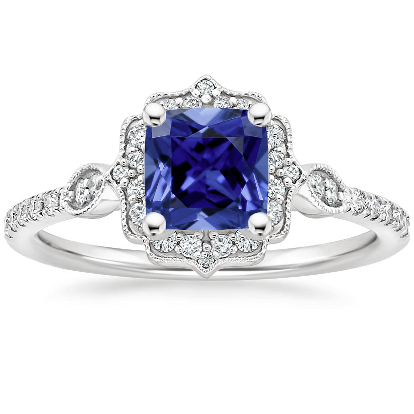 Sapphire Cordelia Diamond Ring (1/4 ct. tw.) in 18K White Gold