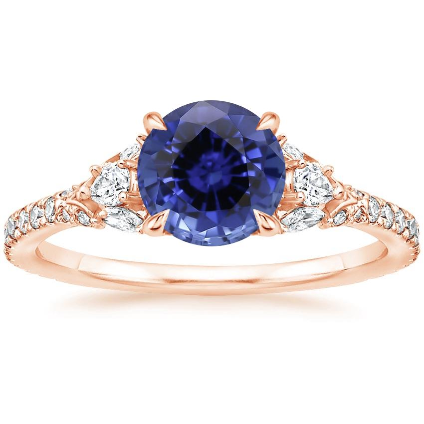 Rose Gold Sapphire Ava Diamond Ring (1/2 ct. tw.)