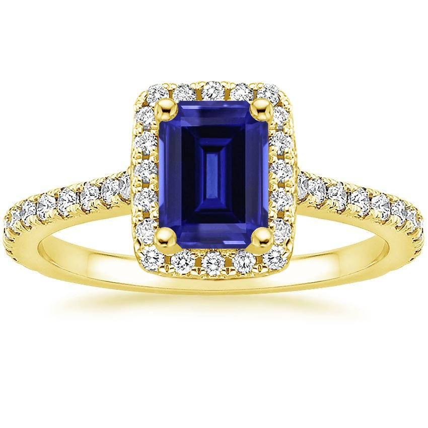 Yellow Gold Sapphire Luxe Odessa Diamond Ring (1/3 ct. tw.)