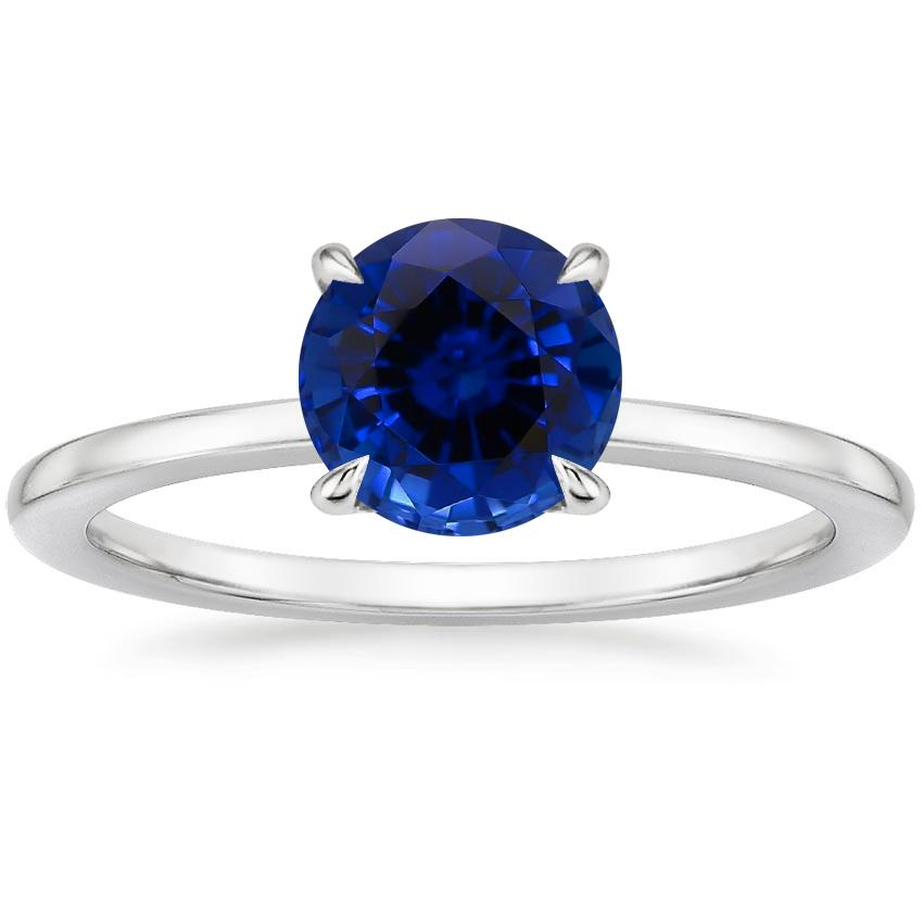 Sapphire Lumiere Diamond Ring in 18K White Gold