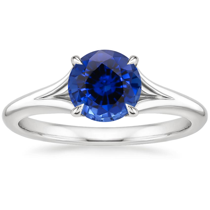 Sapphire Reverie Ring with Surprise Sapphire Accents in 18K White Gold