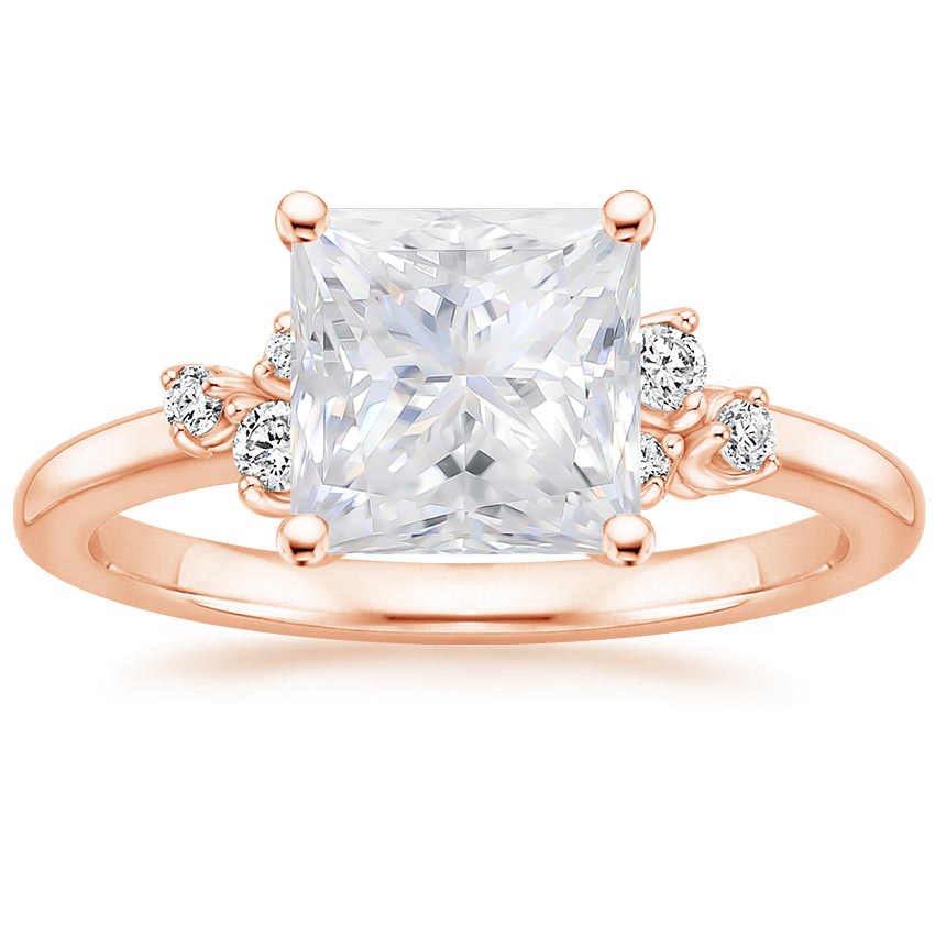 Rose Gold Moissanite Mia Diamond Ring
