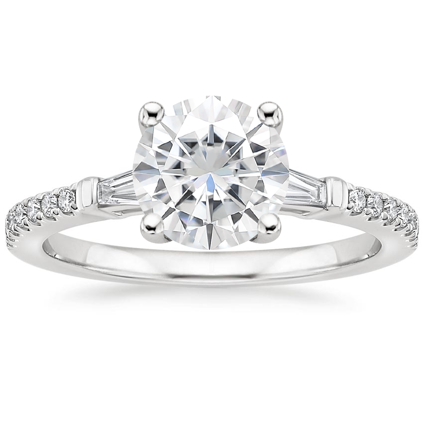 Moissanite Luxe Tapered Baguette Diamond Ring (1/4 ct. tw.) in Platinum