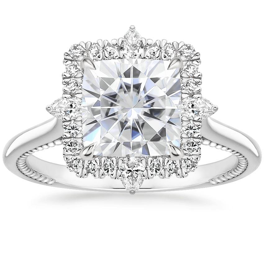 Moissanite Dahlia Diamond Ring (1/3 ct. tw.) in 18K White Gold