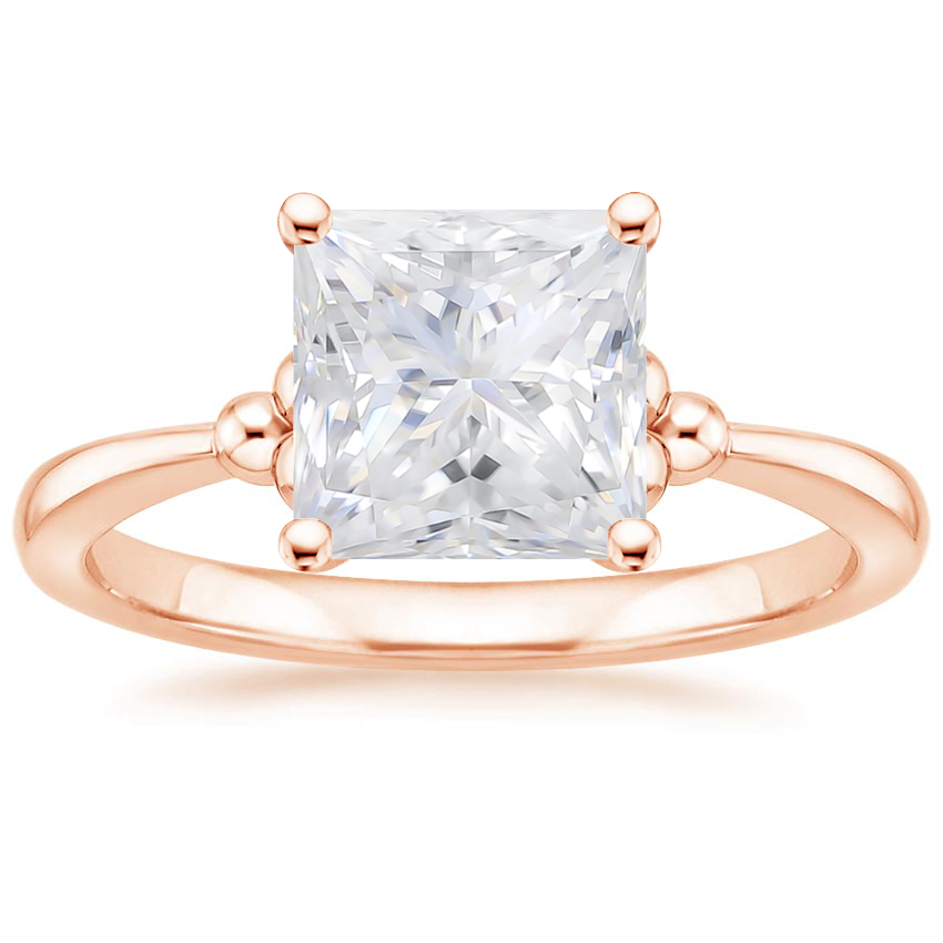 Rose Gold Moissanite Soiree Ring