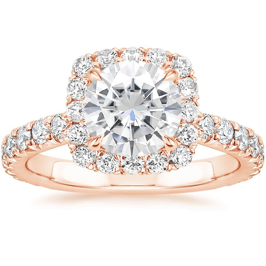 Rose Gold Moissanite Estelle Diamond Ring (3/4 ct. tw.)