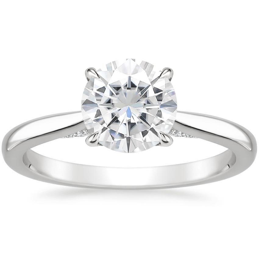 Moissanite Dawn Diamond Ring in 18K White Gold