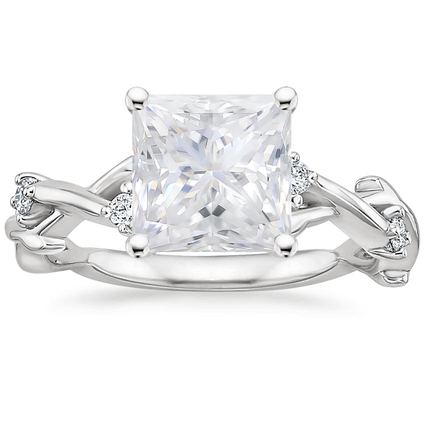 Moissanite Liana Diamond Ring in Platinum