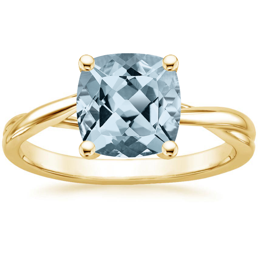 Yellow Gold Aquamarine Grace Ring
