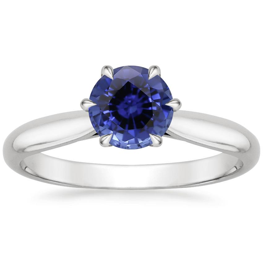 Sapphire Catalina Ring in 18K White Gold