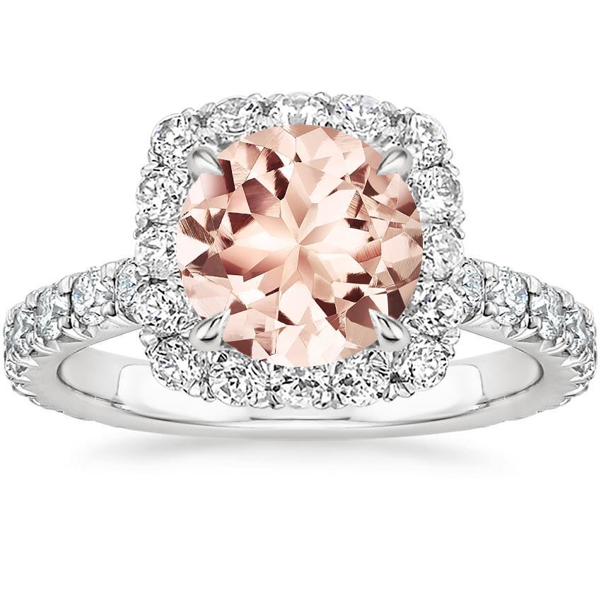 Morganite Estelle Diamond Ring (3/4 ct. tw.) in Platinum